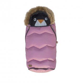Детский универсальный конверт Voksi Urban, Melange Metalic, розовый с мехом