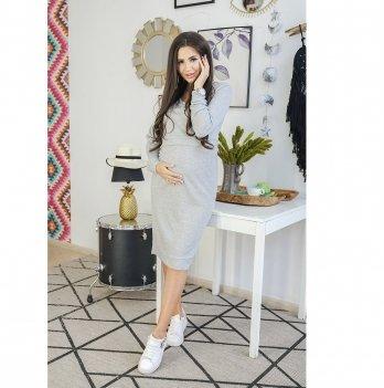 Платье для беременных и кормящих To Be Серый 31380241