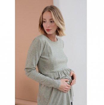 Туника для беременных и кормящих To Be Оливковый 4046050