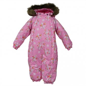 Комбинезон зимний для девочки Huppa KEIRA, розовый узор