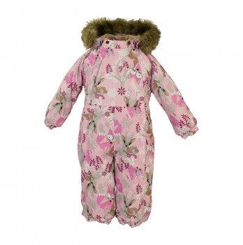 Зимний комбинезон для малышей Huppa Keira 81813 розовый с принтом