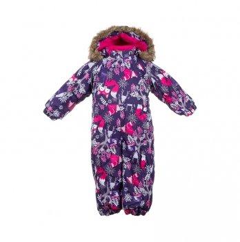 Зимний комбинезон для малышей Huppa Keira 81873 темно-лилoвый с принтом