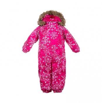 Зимний комбинезон для малышей Huppa Keira 82063 фуксия с принтом