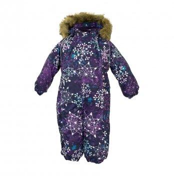 Зимний комбинезон для малышей Huppa Keira 82073 темно-лилoвый с принтом