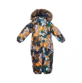 Зимний комбинезон для малышей Huppa Keira 82822 оранжевый с принтом