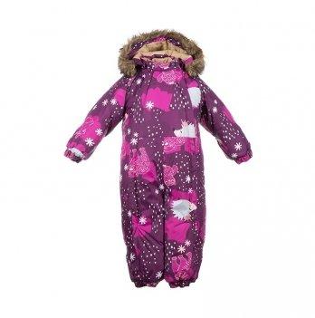 Зимний комбинезон для малышей Huppa Keira 83334 бордовый с принтом