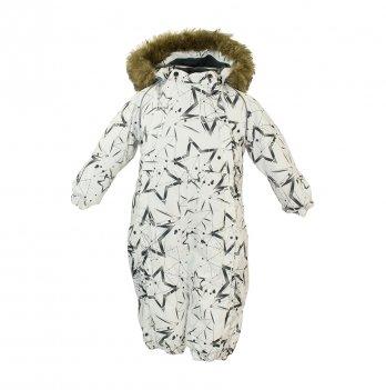 Зимний комбинезон для малышей Huppa Keira 83420 белый с принтом
