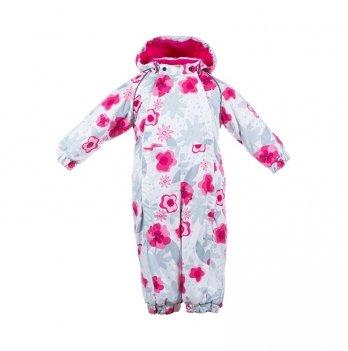 Зимний комбинезон для малышей Huppa Keira 81920 белый с принтом