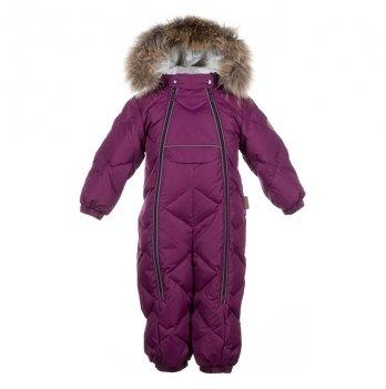Зимний комбинезон-пуховик для малышей Huppa Beata 1 80034 бордовый