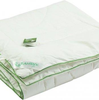 Детское бамбуковое одеяло  ТМ Руно, белое с зелёным кантом