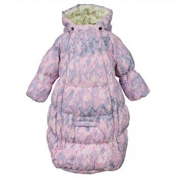 Спальный мешок зимний детский Huppa EMILY, светло-розовый узор