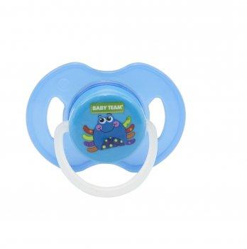 Пустышка латексная ортодонтическая ночная 6+ Baby Team 3204 крабик