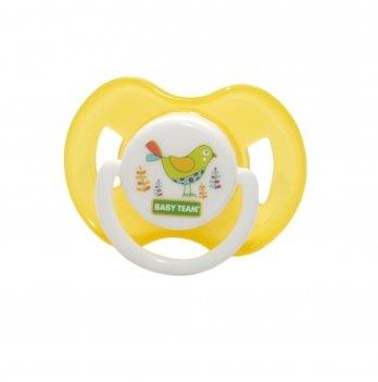 Пустышка латексная классическая 0+ Baby Team 3220 желтый