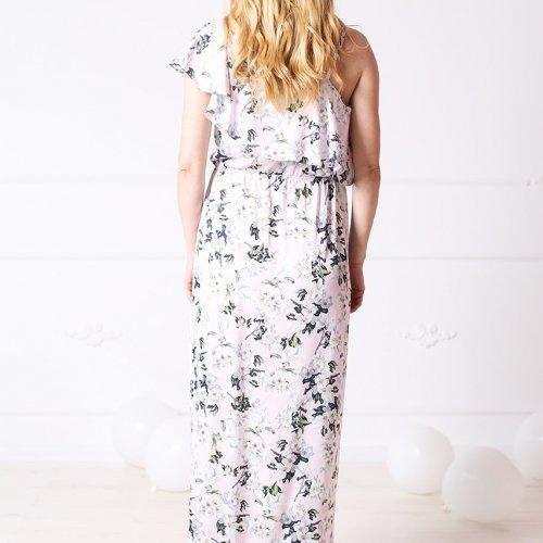 Платье в пол для беременных и кормящих мам MBerry dress, розовое