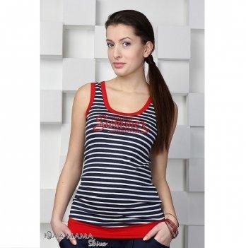 Майка летняя для беременных MySecret Ocean S15-7.11.1 красно-бело-черный