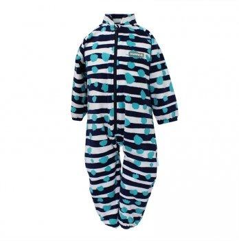 Комбинезон флисовый для младенцев Huppa ROLAND, темно-синий узор