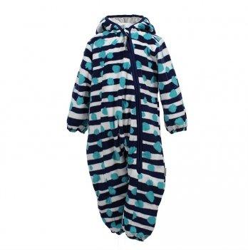 Комбинезон флисовый для младенцев Huppa DANDY, темно-синий узор