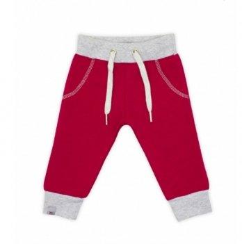 Брюки для девочки Smil, возраст от 6 до 18 месяцев, красные