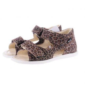 Босоножки кожаные Mrugala леопард