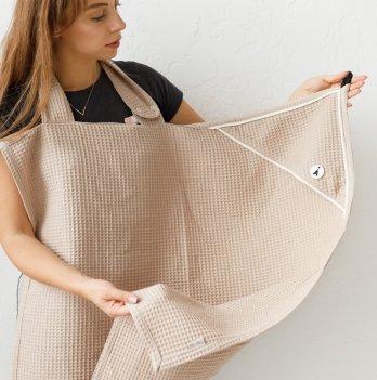 Вафельное полотенце для ухода за новорожденнымMagbaby Бежевый 112302
