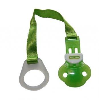 Держатель для пустышки Baby Team 3330 зеленый