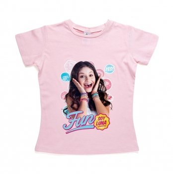Футболка для девочки Disney Я Луна розовая