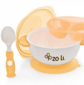 Набор посуды для детей ZoLi STUCK Orange