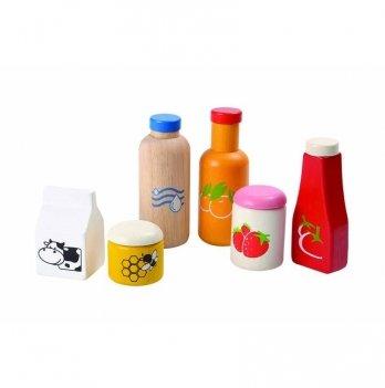 Деревянный игрушечный набор PlanToys® Набор продуктов и напитков