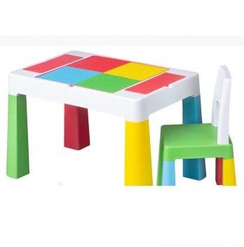Детский стол и стул Tega baby Multifan Белый/Зеленый MF-001-134
