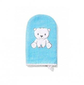 Мочалка-рукавичка бамбуковая BabyOno Медвежонок