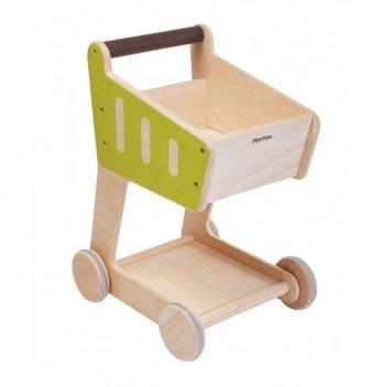 Деревянная игрушка PlanToys® Тележка для покупок