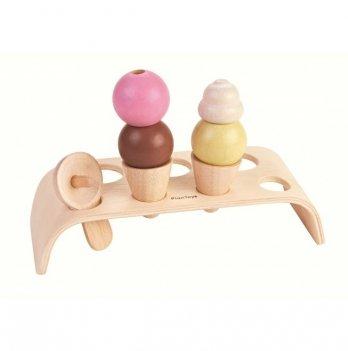 Деревянная игрушка PlanToys® Набор мороженного