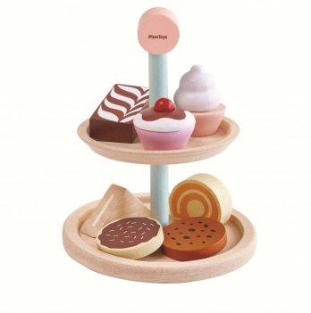 Деревянная игрушка PlanToys® Подставка с выпечкой