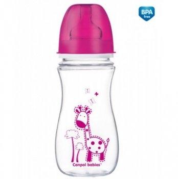 Антиколиковая бутылочка с широким горлышком Canpol babies EasyStart, Цветные зверушки, 300 мл