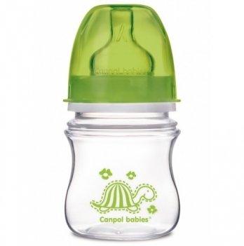 Антиколиковая бутылочка с широким горлышком Canpol babies EasyStart , Цветные зверушки, 120 мл