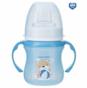 Тренировочная кружка Canpol babies EasyStart - Sweet Fun, 120мл, синяя