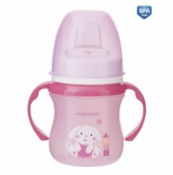 Тренировочная кружка Canpol babies EasyStart - Sweet Fun, 120мл, розовая