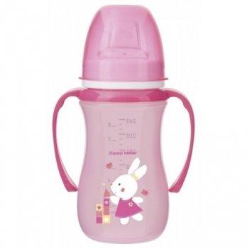 Тренировочная кружка Canpol babies EasyStart - Sweet Fun, 240мл, розовая