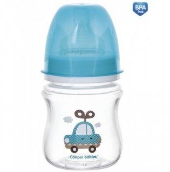 Антиколиковая бутылочка Canpol Babies Easystart Toys, 120 мл, синяя машина