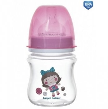Антиколиковая бутылочка Canpol Babies Easystart Toys, 120 мл, розовая кукла