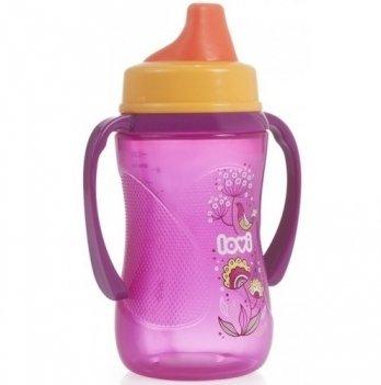 Кружка-непроливайка Lovi Folky, пурпурная, с твердой насадкой, 12+, 250 мл