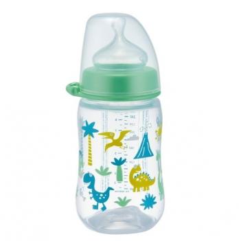 Бутылочка для мальчика с широким горлышком+соска силиконовая (Система