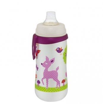 Поильник для девочки NIР, First cup, с широким горлышком (Система