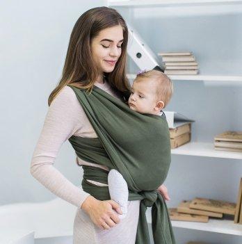 Трикотажный слинг-шарф Love & Carry Олива