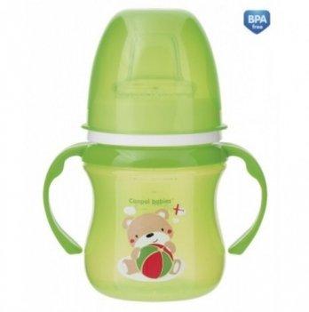 Тренировочная кружка Canpol babies EasyStart - Sweet Fun, 120мл, зеленая