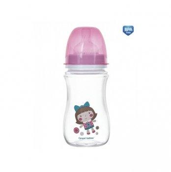 Антиколиковая бутылочка Canpol Babies Easystart Toys, 240 мл, розовая кукла