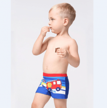 Плавки-шорты для мальчика Keyzi Fireman возраст от 2 до 5 лет красные