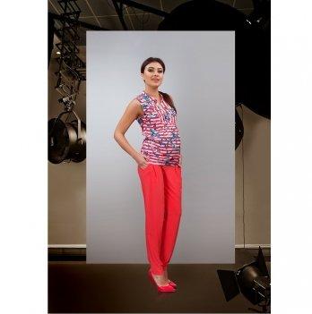 Блуза для беременных и кормящих мам Dianora коралловые полоски 1610 0084