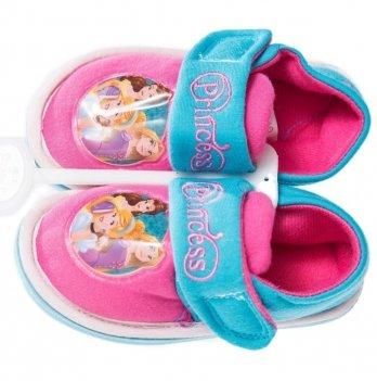 Тапочки на липучке Disney Принцессы розовые