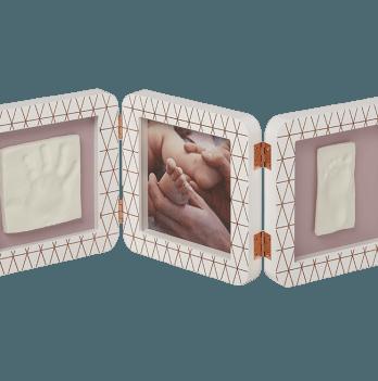 Тройная рамка, Baby Art медно/белый
